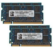 New 8GB 4X2GB 2RX8 DDR2 667MHz PC2-5300S SODIMM Elpida Chips Intel Laptop Memory