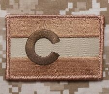 COLORADO STATE FLAG TACTICAL ARMY MORALE DESERT VELCRO® BRAND FASTENER PATCH