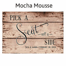 Rustic Pick A Seat Personalized Wedding Directional Sign Wedding Decoration