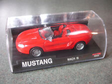 Collectible Red Diecast Mustang Mach III Toy Car Convertible In Case