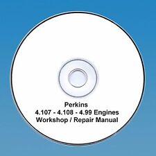 Perkins 4.108, 4.107 & 4.99 moteurs atelier réparation manuel cd pdf