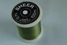 100m Fil SHEER montage OLIVE 14/0 peche mouche fly tying