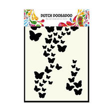 Dutch Doobadoo A6 Template Stencil Mask - Butterflies Pattern Background