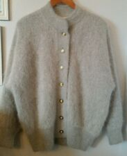 Nwot Belldini gray high quality angora cardigan sweater jacket M/L