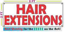 HAIR EXTENSIONS All Weather Banner Sign NEW High Quality! XXL beads salon shop