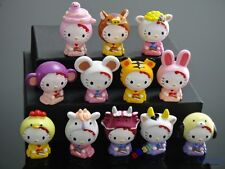 12Pcs Hello Kitty Play animal Action Figures Cake decorating Free Shipping To US