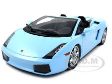 LAMBORGHINI GALLARDO SPYDER BABY BLUE 1/18 MODEL CAR BY NOREV 187951