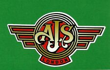 """ AJS MOTORCYCLES LONDON "" VINYL DECAL STICKER CAFE RACER ARIEL INDIAN BSA HOG"