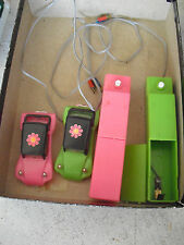 Vintage 1970s Battery Operated Remotes with 2 Car Bodies LOOK