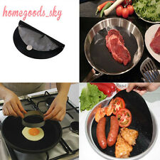 2 PCS Black Nonstick Frying Pan Mats-Cookware clean neat cooking Simple Wash