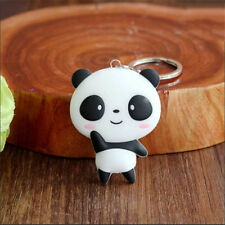 Cute Kawaii Cartoon Panda Keychain  Bag Pendant Silicone Key Ring Chain