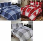 HAMILTON CHECK BEDROOM SETS - DUVET COVERS + CURTAINS + MATCHING ACCESSORIES