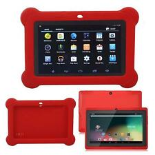 "7"" Android WiFi Bluetooth Touch Quad Core Tablet PC For Kids Red + Case Red FB"
