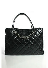 Chanel Black Quilted Aged Calfskin ID Chain Shopper Tote Handbag