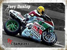 Joey Dunlop TT Champion Isle Of Man Race Honda Motorbike Small Metal/Tin Sign