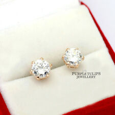 118K Rose Gold GP Stud Earrings W/ Genuine 1.25ct Round Cut Swarovski Diamond