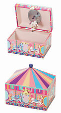 Mele Girls Shaped Musical Jewellery Box Carousel Collection Wind Up Pony Mirror