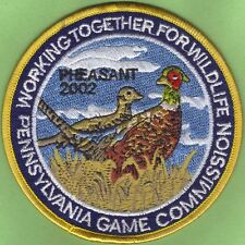 """Pa Penna Pennsylvania Game Commission NEW 2002 WTFW Ringneck Pheasant 4"""" Patch"""