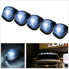 5 Pcs Waterproof White LED Car Exterior Cab Top Roof Running Lights Marker Lamps