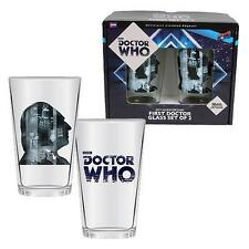 Doctor Who Anniversary First Doctor 16 oz. Glass Set of 2 William Hartnell 14+