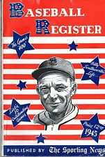 1945 BASEBALL REGISTER by The Sporting News; Loaded with STATS, PICS, SIGNATURES