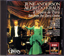 June ANDERSON & Alfredo KRAUS: Live from Paris Opera CD Verdi Donizetti Rossini