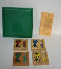 Vintage 1959 Drueke & Sons The Game of Space Bug Board Game No. 580P