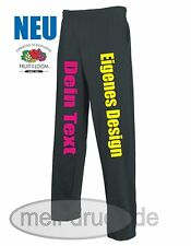 Jogging Hose bedrucken 3 Farben NEU Fruit of the Loom