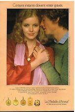 Publicité Advertising 1979 Les Bijoux La médaille d'Amour