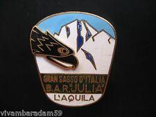 DISTINTIVI ALPINI B.A.R. JULIA L'AQUILA GRAN SASSO 1960 SMALTI ALPINE BADGES