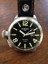 U-BOAT ITALO FONTANA IFO LEFT HOOK BLACK B45-08 45MM WATCH WITH BOX