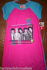 ONE DIRECTION 1D Fushia Nightgown PAJAMAS Girl's 7/8 NeW Pjs Harry Liam Louis