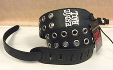 "ERNIE BALL SOLD @ GUITAR CENTER MUSIC MAN 2"" GUITAR STRAP BLACK W SILVER GROMMET"