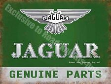 Jaguar Genuine Parts, 185 Vintage Garage Car Advertising, Small Metal/Tin Sign