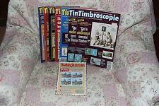Lot de 8 revues Timbroscopie et Timbroloisirs - 1993 à 1995