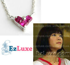 Japanese TV Nodame Cantabile Mini Pink Heart Necklace ruby 925 STERLING SILVER