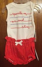 Baby Girl's Old Navy Patriotic Two Piece Outfit, Size 6-12 Months