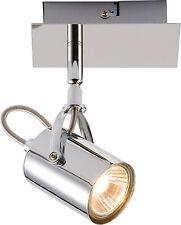 Ml448 ip20 230v gu10 35w SINGLE CROMO Spot Lampada Faretto montaggio a parete/soffitto