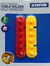 2pc Self Adhesive Cable Organiser Holder Keep Cable Neat & Tidy Great Value!