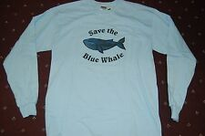 Endangered Animals Save the Blue Whale Long Sleeve T-shirt Adult X-Large