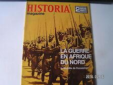 **a Historia Magazine n°46 La Guerre en Afrique du Nord / Bataille de Kesserine