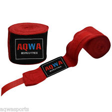 AQWA Hand Wraps Bandages Fist Boxing Inner Gloves 4.5m Cotton MMA Muay Thai, RED