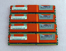4 x 2gb = 8gb 2rx4 pc2-5300f pc5300f ddr2 ECC RAM del server di memoria + calore Divaricatore