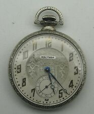 Vintage Waltham Riverside 19j 12s Adjusted Fancy 10K GF Dueber Case Pocket Watch