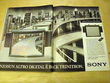 PUBBLICITA' ADVERTISING WERBUNG 1989 SONY TV COLOR BLACK TRINITRON (G48)