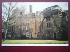 POSTCARD SUFFOLK BURY ST EDMUNDS - HOUSES IN THE ABBEY RUINS