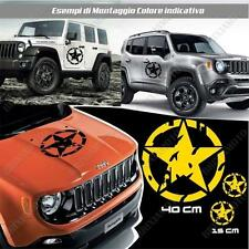 KIT 3 STICKERS STAR MUD BODYWORK GRAPHIC JEEP WRANGLER OFF ROAD YELLOW