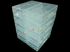 10 x 18650/16340/CR123A Transparent White Battery Case Holder Storage Box