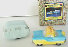 NASH & RV TRAILER CAMPER Salt and Pepper Fitz & Floyd Roadside Omnibus OCI 1994