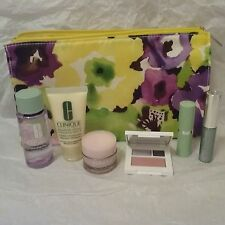 Clinique Violet Skin Care Makeup 7 Pc Gift Set Travel Size Value $70 NEW
